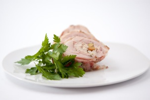 Chicken Ballotine with Pistachio Nuts (Sous-vide)